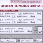 Sample Electrical Installation Certificate