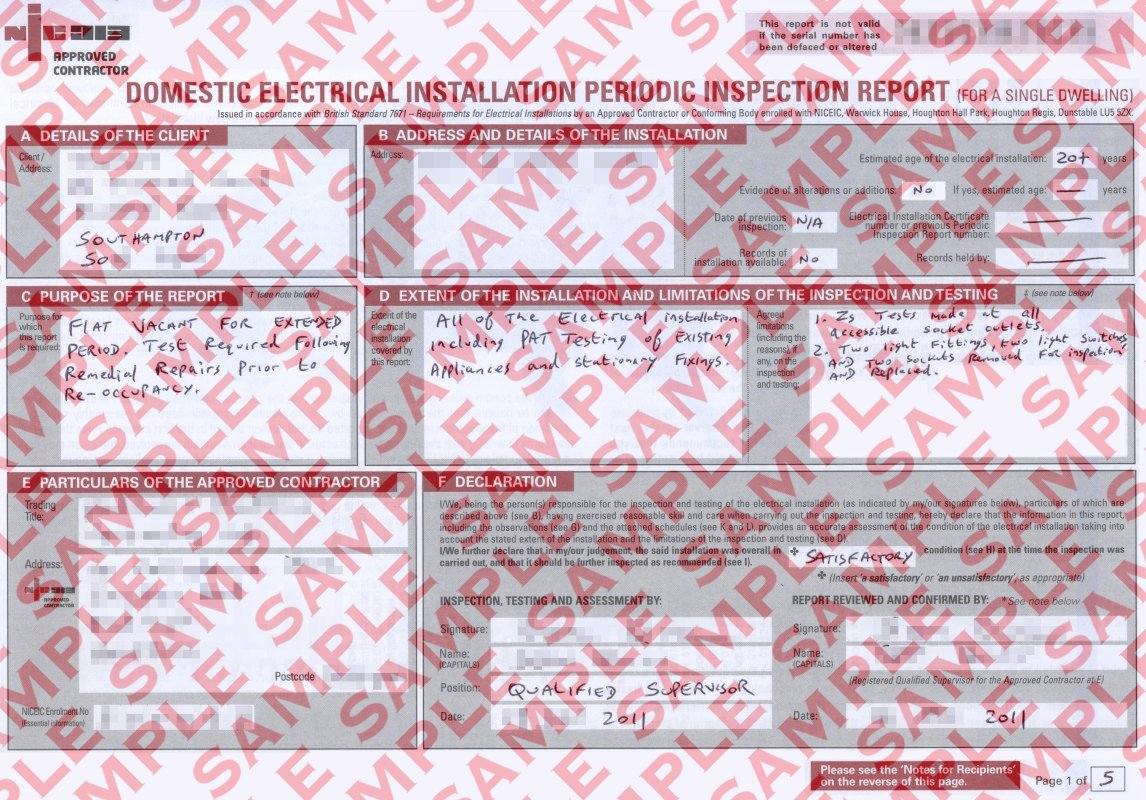 Restaurant Reservation Periodic Inspection Report